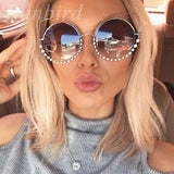 Diamond Luxury Cat Eye Designer Mirrors Metal Sun Glasses - Wear.Style