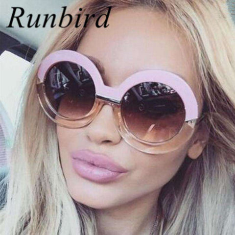 Oversized Big Round Frame Luxury Designer Sun Glasses - Wear.Style