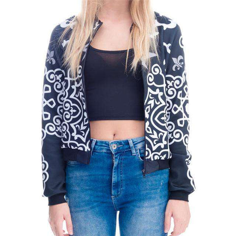 3D Printed Long Sleeve Coats Bomber Jacket - WS-Jackets