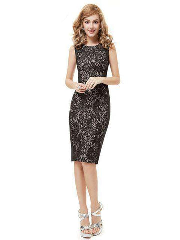 Stylish Knee Length Party A-line Sleeveless Dress