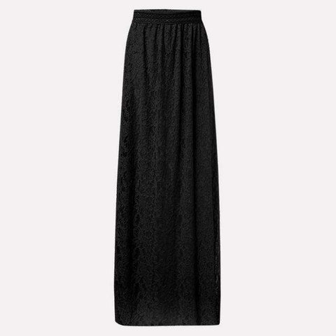 Elastic Elegant Full Length Double Layer Maxi Skirts