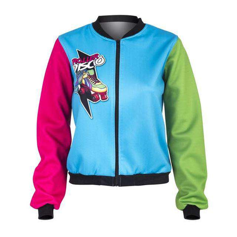 Roller Disco Printing Sexy Bomber Jacket - Wear.Style