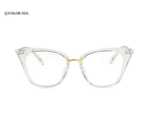 Cat Eye Designer Clear Lens Sun Glasses - Wear.Style