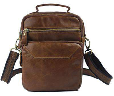 Crossbody Genuine Leather shoulder Handbag