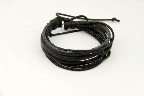 Genuine Leather  Braided Rope Friendship Bracelet
