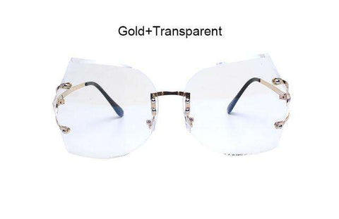 Rimless Gradient Clear Designer Sun glasses - Wear.Style