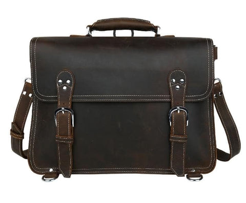 Genuine Leather Business Laptop Bag
