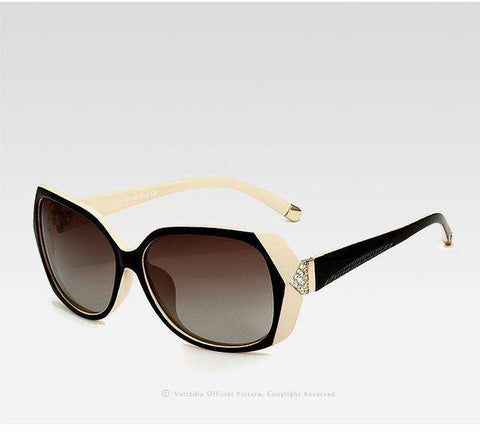 Retro TR90 Vintage Large Polarised Carved Diamond Sunglasses - Wear.Style