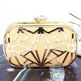 Luxurious Hollow Out Gold/White Crystal Diamond Clutch - Wear.Style