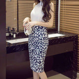 Bag Hip Plaid Printed High Waist Step Skirt - Wear.Style