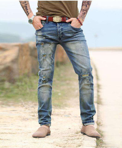Ripped Holes Elasticity Casual Stretch Jeans - Wear.Style