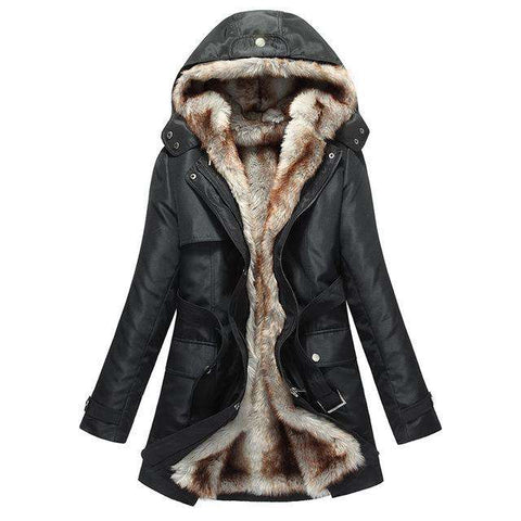 Faux Fur Hood Coat - WS-Jackets