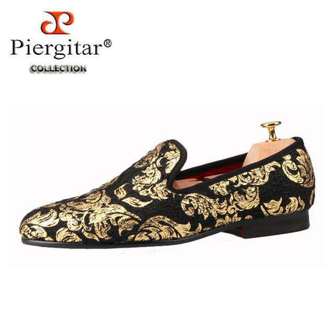 Highend Gold Printed Loafers