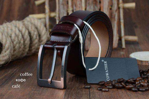 Genuine Leather Vintage Pin Buckle Belts