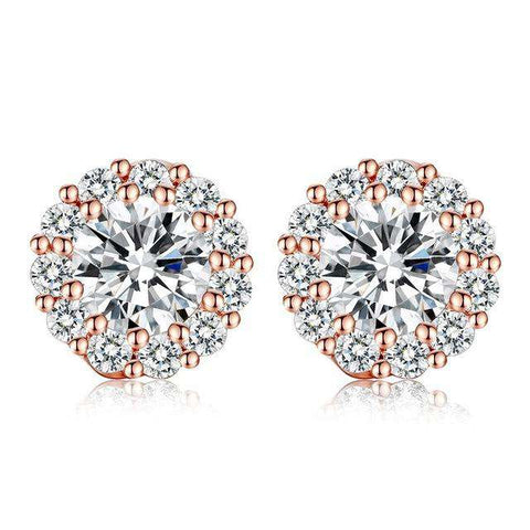 High Quality AAA CZ Crystal White Colour Stud Earring