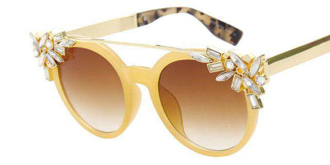 Butterfly Cat Eye Designer Crystal Diamond Frame Sunglasses