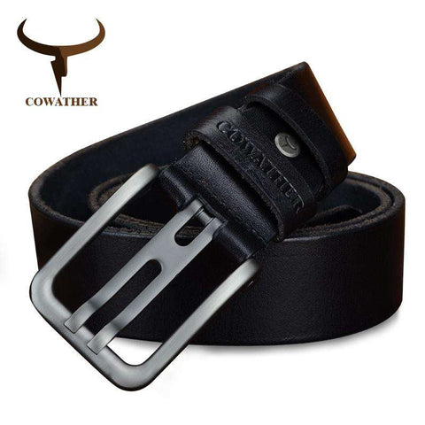 Genuine Leather Alloy Pin Buckle Belts - Wear.Style