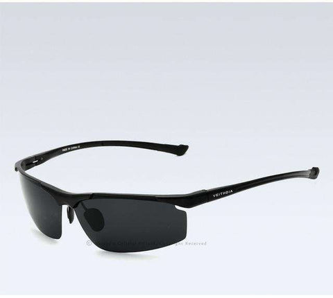 Aluminum Magnesium Polarised Blue Coating Mirror Sun Glasses - Wear.Style