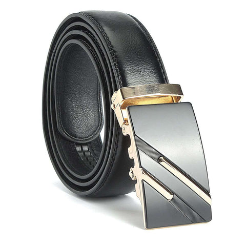 Gold Silver Alloy Adjustable Automatic Buckle Belts