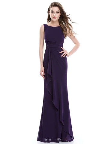 Mermaid Purple Long Formal Sleeveless Evening Evening Gowns