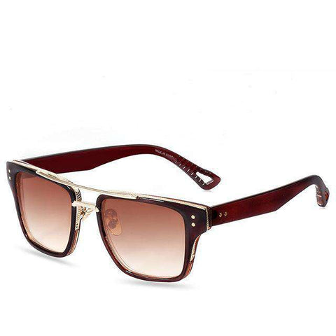 Retro Original Mirror Classic Rivet Square Sun Glasses - Wear.Style