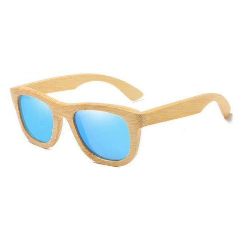 Wooden Polarized Bamboo Vintage Wood Sunglasses