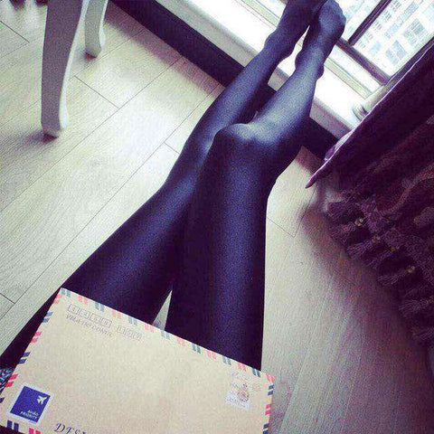 Shiny Lustrous Black High Elastic Sexy Leggings - Wear.Style