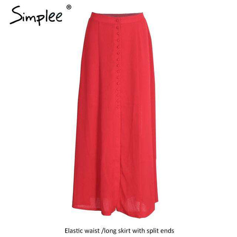 Split up bohemian Chiffon Elegant Long Skirt