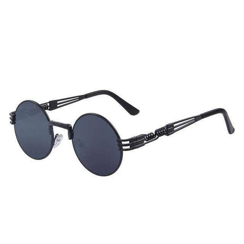 Steampunk Retro Round Metal Sunglases