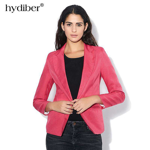 Foldable Long Sleeves Lapel Lined With Striped Single Button Jacket - WS-Jackets