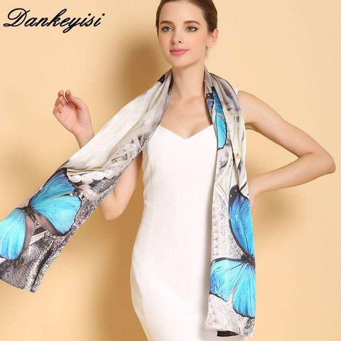 Genuine Long Pure 100% Silk Scarf