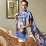 100% Mulberry Long Silk Printed Scarf - Wear.Style