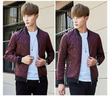 Slim Fit Printed Stander Collar Jacket - Wear.Style