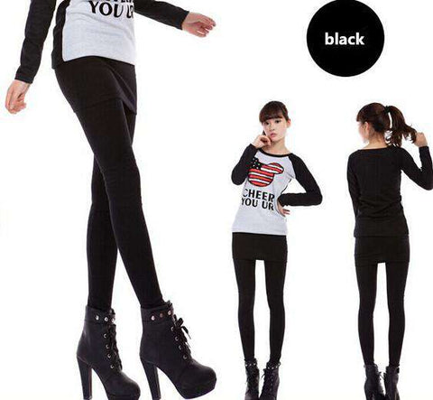One-Piece Slim Footless Legging Skirt - Wear.Style