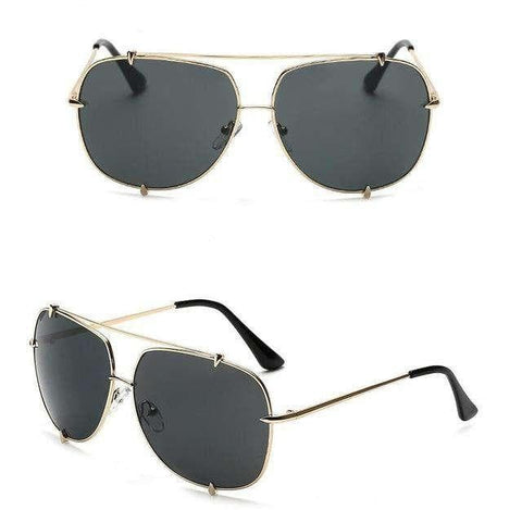 Oversized Aviator UV400 Retro Designer Sun Glasses - Wear.Style