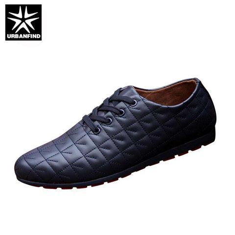 Lace-up Casual Leather Shoes