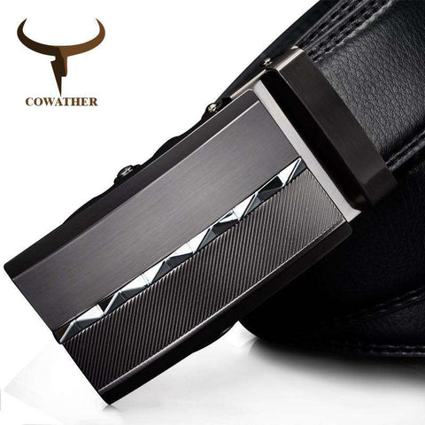 Genuine Leather Luxury Automatic Alloy Buckle Belts - Wear.Style