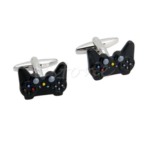 Fancy Black Game Consoles Handle Cuff Links - Wear.Style