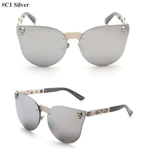 Rose Gold Mirror Designer Metal Frame Sun Glasses - Wear.Style