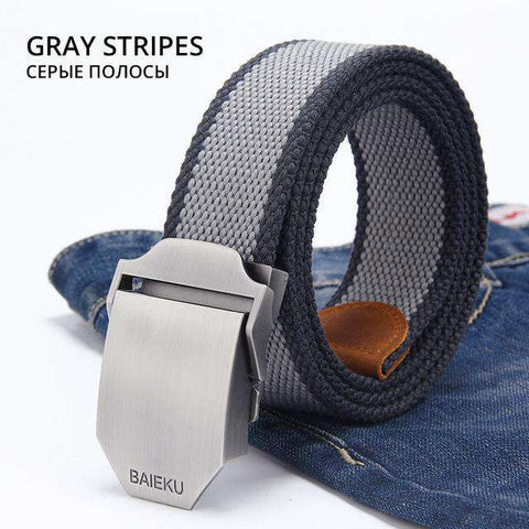 Smooth Canvas Buckle Belt