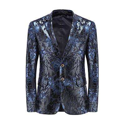 Single Breasted Printed Floral Slim Fit Blazer