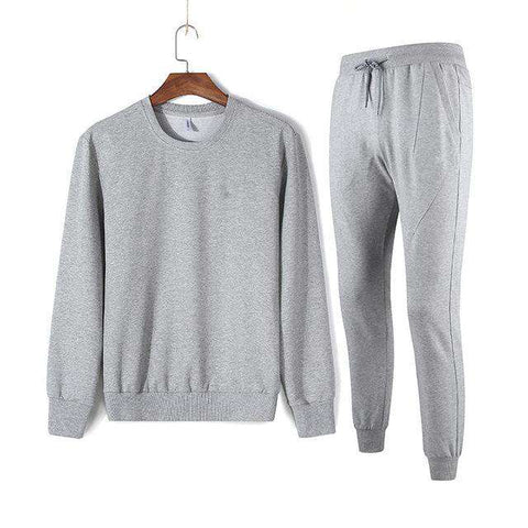 Winter Clothing Set Men Cotton Fleece Sweatshirts + Pants