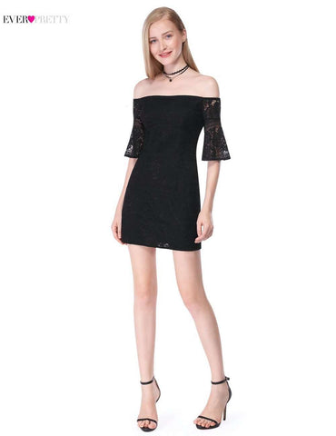 Sexy Lace Off-The-Shoulder Sleeveless Short Cocktail Dress - Wear.Style