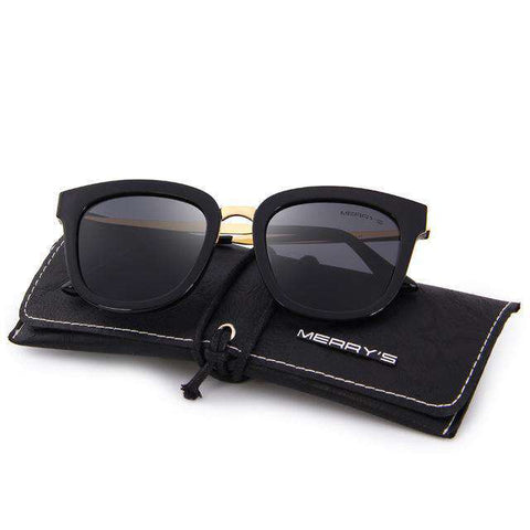 Cat Eye Polarised Metal Temple 100% UV Protection Sunglasses