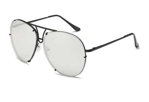 Designer Clear Gradient Pilot Mirror Sun glasses - Wear.Style
