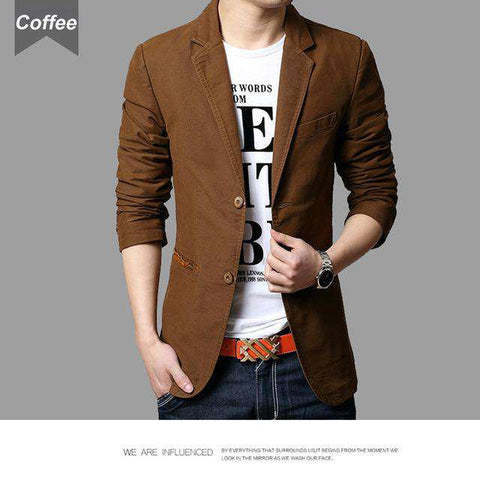 Slim Fit Patchwork Coat - Wear.Style