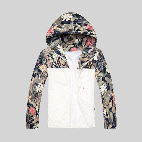 Floral Slim Fit Bomber Jacket - WS-Jackets