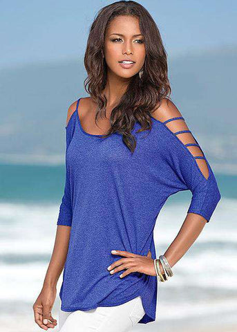 Casual Half Sleeve Off shoulder Top - Wear.Style