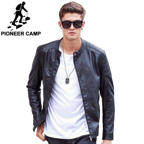 Motorcycle Leather Coat - WS-Jackets