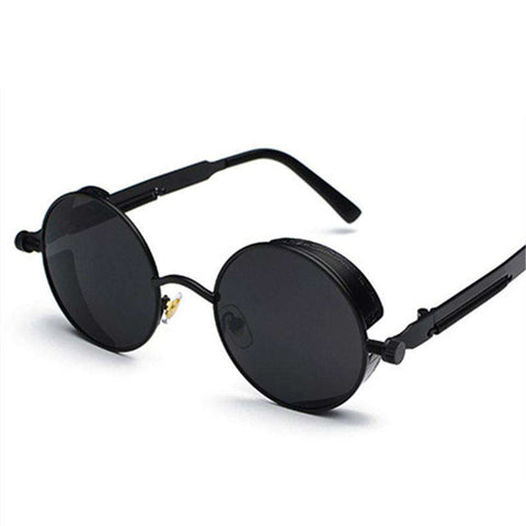 Round Steampunk Mirror Punk Sunglasses